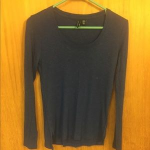 5 for $25 Sale!  Long-sleeved navy tee